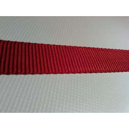 Sangle Polyester rouge 22 mm